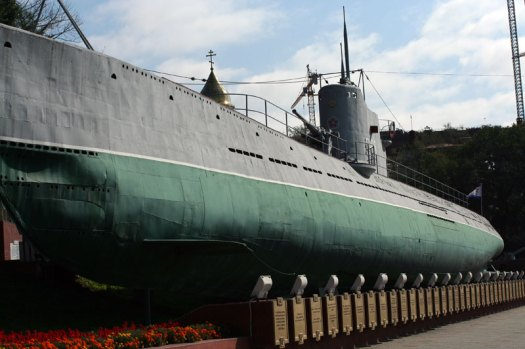 Outside of Soviet submarine